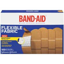 Band-Aid Brand Dryfit All One Size Flexible Fabric Adhesive Bandages 17 ct