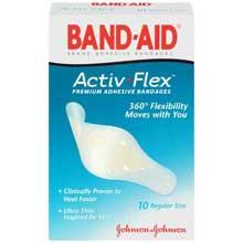 Band-Aid Activ-Flex Regular Size Adhesive Bandages 10 ct Box