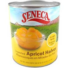 Unpeeled Label Apricot Halves in Light Syrup
