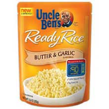 Mars Uncle Bens Butter and Garlic Ready Rice 8.8 Ounce