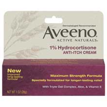 Aveeno 1% Hydrocortisone Anti-Itch Cream, Tube Anti-Itch 1 Oz Box