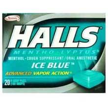 Halls Ice Blue - 30 count bag Mfg 6218400