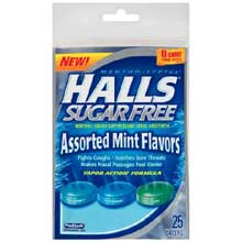 Sugar Free Assorted Mint Halls 25 Pieces