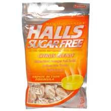 Halls Sugar Free Citrus Blend - 25 count bag