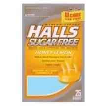 Halls Sugar Free Honey Lemon - 25 count bag