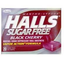 Halls Sugar Free Black Cherry - 25 count bag