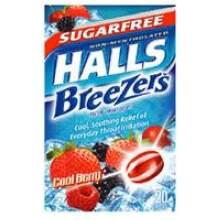 Halls Breezers Sugar Free Cool Berry Mfg 6322200