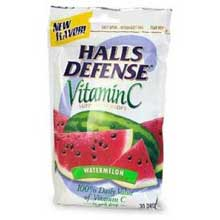 Halls Defense Watermelon - 30 count bag