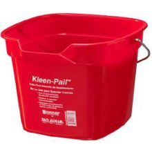 San Jamar Red Kleen Pail 10 Quart