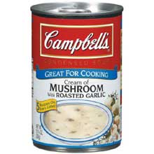 Campbells Cream of Mushroom Soup with Roasted Garlic- 10.75 oz. can