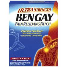 Bengay Ultra Strength Regular Size Pain Relieving Patch 4 Ct Box