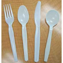 White Polystyrene Silver Series Medium Heavy Weight Cutlery