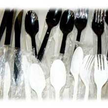 Silver Series White Polystyrene Medium Heavy Weight Wrapped Cutlery