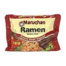 Maruchan Roast Beef Flavor Ramen Noodle Soup 3 Ounce