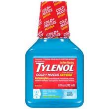 Tylenol Cool plus Mucus Severe Cool Burst Liquid 8 fl. oz. Bottle