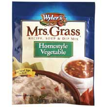 Mrs. Grass Homestyle Vegetable Recipe, Soup and Dip Mix - 2 oz. envelope