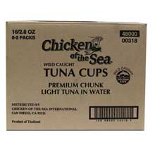 Chicken of the Sea Chunk Light Tuna in Water Cup 2.8 Ounce