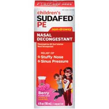 Childrens Sudafed PE Non-Drowsy Nasal Decongestant 4 fl. oz. Box
