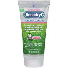Childrens Benadryl Itch Cooling Gel Original Strength 3 oz Tube