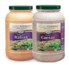 Ventura Foods Classic Gourmet Select Creamy Garlic Italian Salad Dressing 4 Gallon