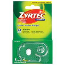 Zyrtec Allergy 24 Hour 10mg Tablets 3 Ct Peg