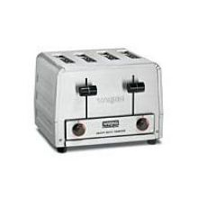 Waring Heavy Duty Stainless Steel Four Slice Pop Up Toaster 120 Volt