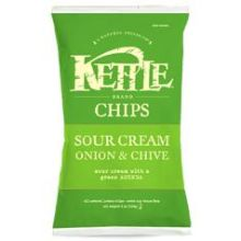 Kettle Foods Sour Cream, Onion and Chive Potato Chips - 3 oz. bag