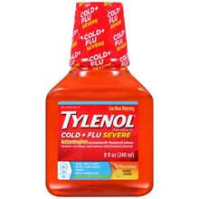 Tylenol Cold plus Flu Severe Warming Honey Lemon Liquid 8 fl. oz. Bottle