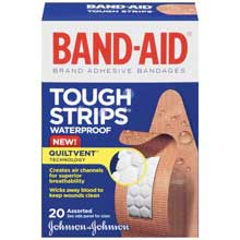Band-Aid Tough Strips Waterproof Assorted 20 ct