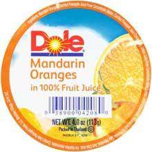 Mandarin Orange in 100 Percent Fruit Juice