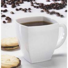 Yoshi Ware Emi Squares White Coffee Mug 8 Ounce