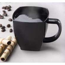 Yoshi Ware Emi Squares Black Coffee Mug 8 Ounce