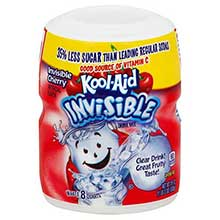Kool Aid Invisible Cherry Soft Drink Mix 19 Ounce