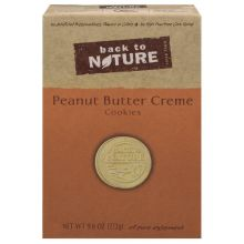 Back To Nature Peanut Butter Creme Sandwich Cookies