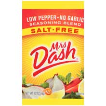 Mrs Dash Low Pepper No Garlic Seasoning Packet