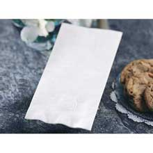Smith Lee White Greek Key Embossed Dinner Napkin