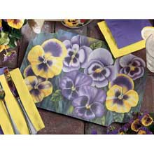 Smith Lee Pansies Placemat