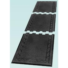 End Section Black Comfort Zone Regular Rubber Anti Fatigue Mat