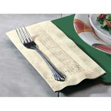 Smith Lee Ecru Greek Key Embossed Dinner Napkin