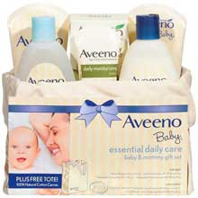 Aveeno Baby Essential Daily Care Mommy and Me Gift Set 6 ct Basket