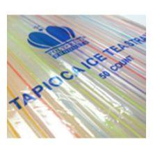 Neon Stripe Tapioca Straw