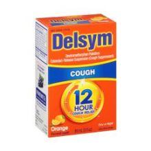 12 Hour Orange Flavored Cough Relief Liquid