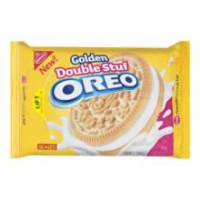 Oreo Golden Double Stuff Sandwich Cookie
