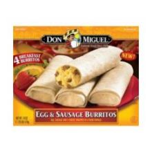 Don Miguel Egg and Sausage Breakfast Burrito