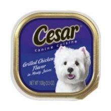 Cesar Canine Cuisine Grilled Chicken Flavor in Meaty Juice