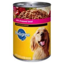Pedigree Complete Nutrition Meaty Ground Dinner with Chopped Beef for Dog