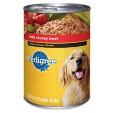 Pedigree Complete Nutrition Meaty Ground Dinner with Chunky Beef for Dog