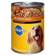 Pedigree Meaty Ground Dinner with Chopped Chicken for Dog 22 Ounce
