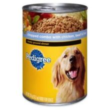 Pedigree Meaty Ground Dinner with Chopped Combo with Chicken and Beef Liver for Dog