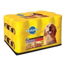 Pedigree 12 with Chunky Chicken and 12 with Chunky Beef for Dog